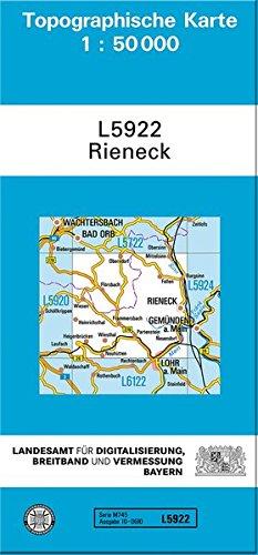 Rieneck 1 : 50 000: Topographische Karte 1:50000
