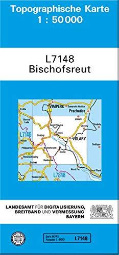 TK50 L7148 Bischofsreut: Topographische Karte 1:50000