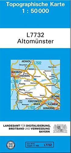 TK50 L7732 Altomünster 1 : 50 000: Topographische Karte