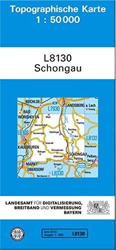 TK50 L8130 Schongau: Topographische Karte 1:50000