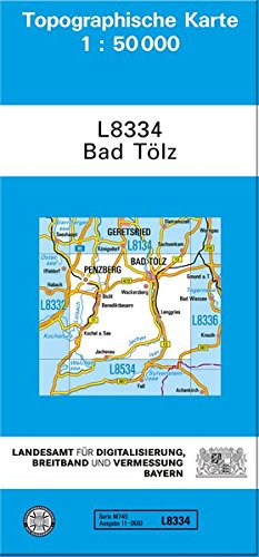 Bad Tölz 1 : 50 000. Normalausgabe: mit UTM-Gitter und mehrsprachiger Legende