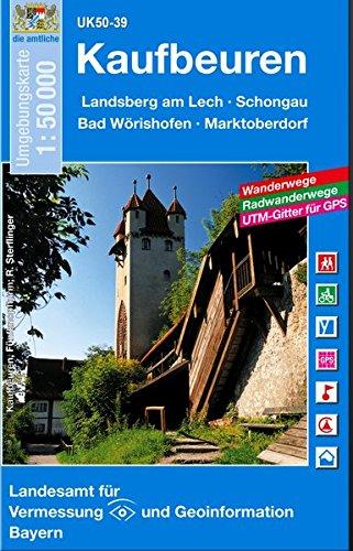 9783899332957: Kaufbeuren 1 : 50 000: Landsberg am Lech, Schongau, Bad Wörishofen, Marktoberdorf