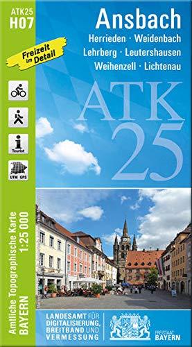 Ansbach 1 : 25 000: Herrieden, Weidenbach,