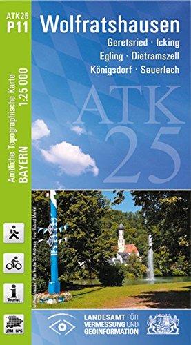9783899335002: Wolfratshausen 1 : 25.000: Geretsried - Icking - Egling - Dietramszell - K�nigsdorf - Sauerlach. Rad- und Wanderkarte