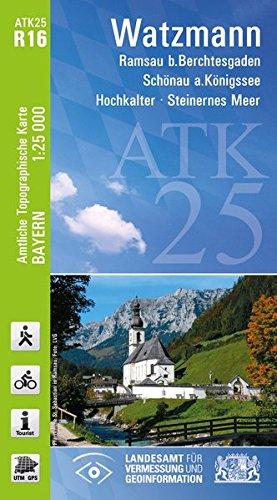 9783899335293: Watzmann 1 : 25 000: mit Wander - Radwegenetz, Ramsau b. Berchtesgaden, Schönau a. Königssee, Hochkalter - Steinernes Meer