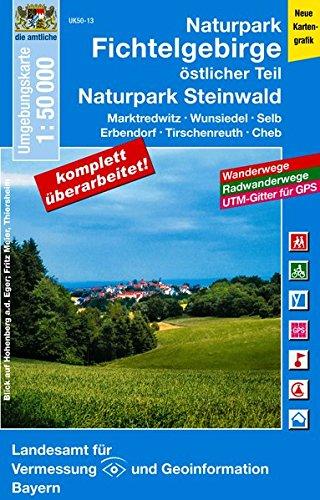 9783899335477: Naturpark Fichtelgebirge östlicher Teil 1 : 50 000: Marktredwitz, Wunsiedel, Selb, Erbendorf, Tischenreuth, Waldsassen. Wanderwege, Radwanderwege, UTM-Gitter für GPS