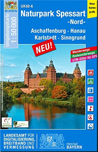 9783899335552: Naturpark Spessart Nord 1 : 50 000 (UK50-6)