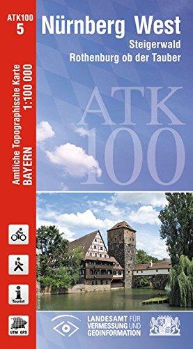9783899335675: Nürnberg-West 1 : 100 000: Steigerwald, Rothenburg ob der Tauber, Fürth, Erlangen, Ansbach, Kitzingen, Bamberg, Forchheim, Höchstadt an der Aisch, Volkach