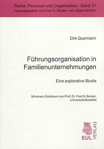 9783899361995: Führungsorganisation in Familienunternehmungen