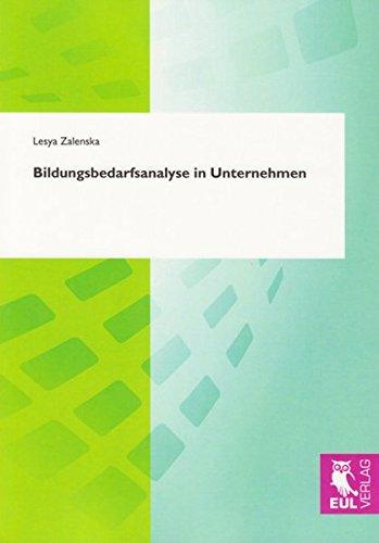 9783899368048: Bildungsbedarfsanalyse in Unternehmen