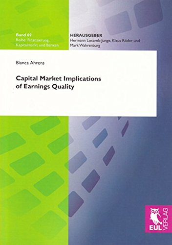 9783899369212: Capital Market Implications of Earnings Quality: 69 (Finanzierung, Kapitalmarkt Und Banken)