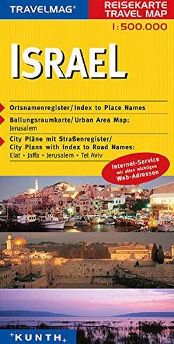 9783899442410: KUNTH Reisekarte Israel 1 : 500 000: Reisekarte Asien