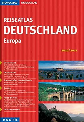 9783899445596: Travelmag Reiseatlas Deutschland - Europa 2010/2011: Deutschland: Großer Straßenatlas 1:300.000 mit Ortsregister, 16 Ballungsraumkarten 1:100.000. ... Kroatien. Reise-Service. Info-Kartenrand