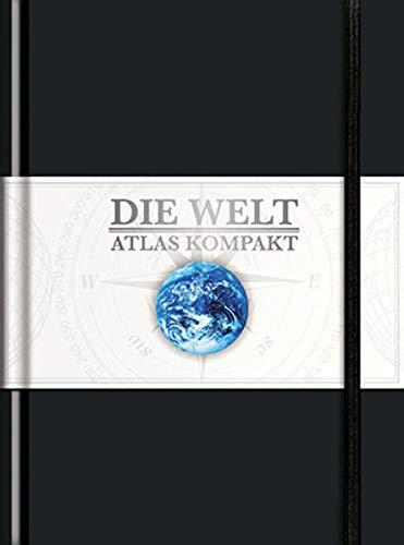 9783899445602: Taschenatlas Die Welt - Atlas kompakt, schwarz