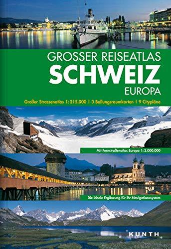 9783899447361: Großer Reiseatlas Schweiz 1 215 000 Mit Europa
