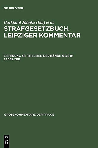 9783899491906: Titeleien der Bände 4 bis 8; §§ 185-200 (Gro Kommentare Der Praxis)