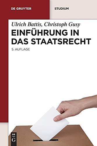 9783899497991: Einführung in das Staatsrecht (De Gruyter Lehrbuch) (German Edition)
