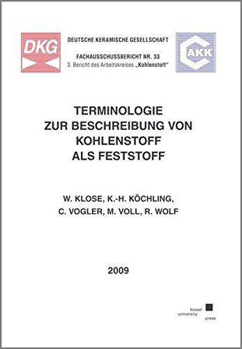 Terminologie zur Beschreibung von Kohlenstoff als Feststoff: Wolfgang Klose