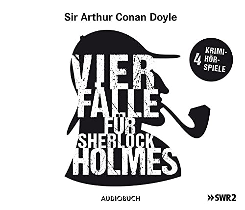 9783899649093: Vier Fälle für Sherlock Holmes (Der adlige Junggeselle, Die einsame Radfahrerin, Die Internatsschule, Der schwarze Peter) - 4 Audio-CDs mit 208 Min.
