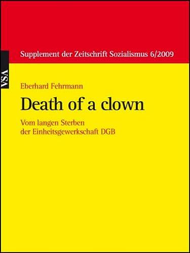 9783899659528: Death of a clown
