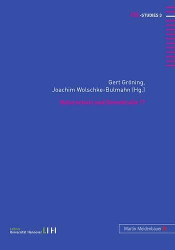 9783899750775: Naturschutz und Demokratie!? (CGL-Studies) (German Edition)