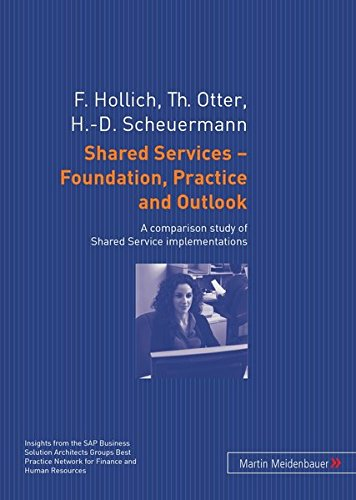 9783899751239: Shared Services – Foundation, Practice and Outlook: A comparison study of Shared Service implementations
