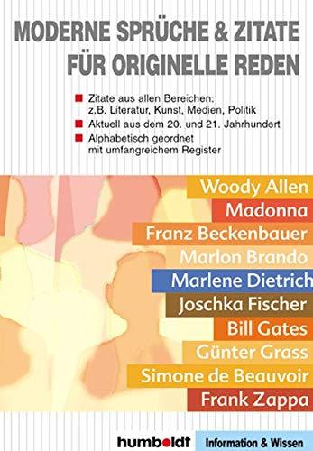 Moderne Sprüche und Zitate für originelle Reden: Humboldt Verlag