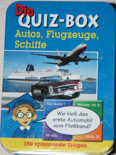 9783899968453: Die Quiz-Box Autos, Flugzeuge, Schiffe