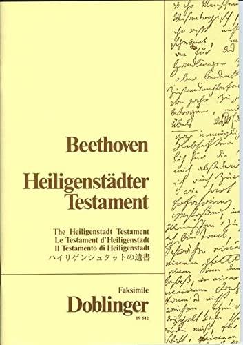 Heiligenstädter Testament: Faksimile-Ausgabe: Ludwig Van Beethoven