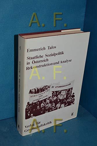 9783900351052: Staatliche Sozialpolitik in �sterreich (�sterreichische Texte zur Gesellschaftskritik)