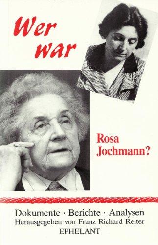 9783900766115: Wer war Rosa Jochmann?