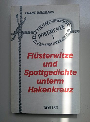 9783900766139: Flüsterwitze und Spottgedichte unterm Hakenkreuz