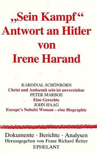 9783900766160: Sein Kampf - Antwort an Hitler