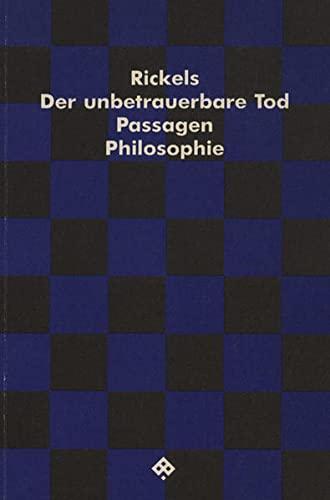9783900767211: Der unbetrauerbare Tod.