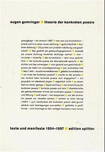 9783901190346: Gesamtwerk / Theorie der konkreten Poesie: Texte und Manifeste 1954-1997