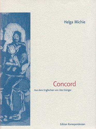 9783902113474: Concord: Gedichte und Bilder