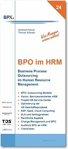 9783905413120: BPO im HRM. Business Process Outsourcing im Human Resource Management
