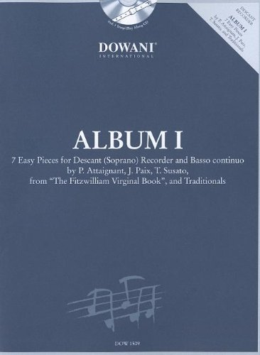 9783905476057: ALBUM VOLUME 1 (EASY) FOR DESCANT (SOPRANO) RECORDER AND BASSO CONTINUO