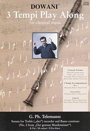 Sonate B-Dur Nr.2 aus Der getreueMusikmeister (+CD) : für Altblockflöte und Bc: Georg ...
