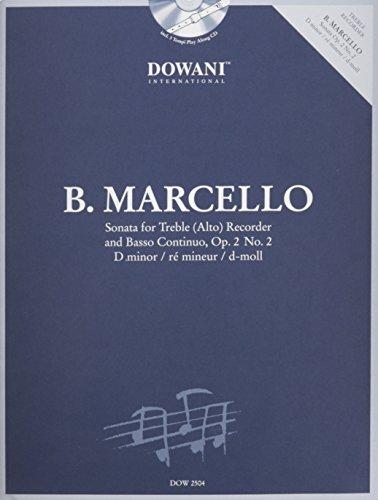 9783905476583: Marcello: Sonata in D Minor, Op. 2, No. 2 for Treble (Alto) Recorder and Basso Continuo