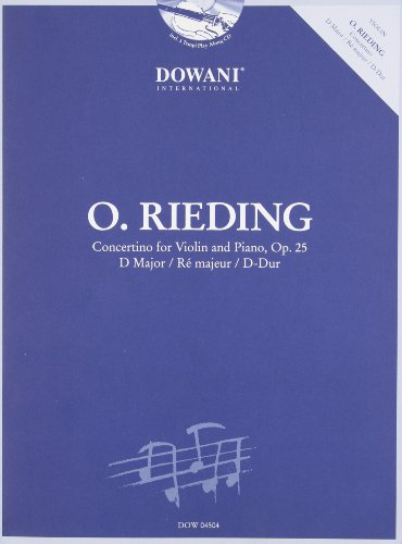 9783905476590: CONCERTINO IN D MAJOR FOR VIOLIN AND PIANO OP25 BOOK AND CD