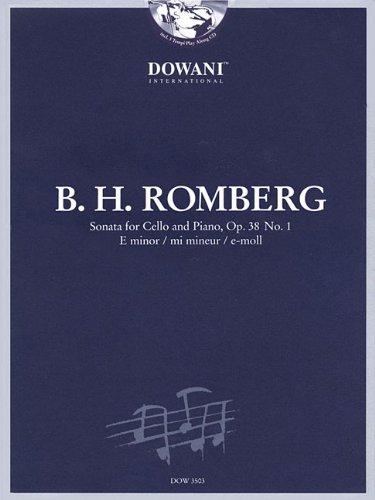 9783905476781: Romberg: Sonata for Cello and Piano in E Minor, Op. 38 No. 1