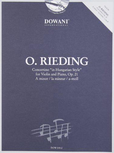 9783905476842: CONCERTINO IN A MINOR IN HUNGARIAN STYLE FOR VIOLIN AND PIANO OP21 BOOK AND CD