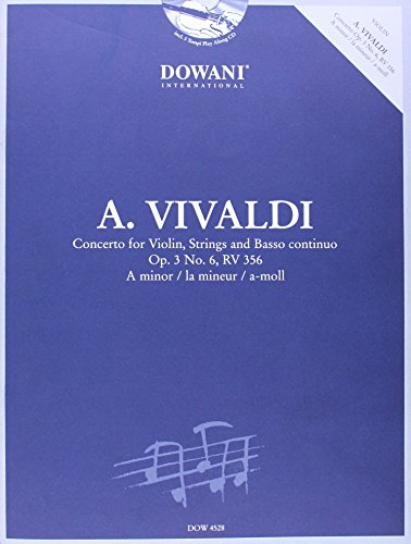 9783905479355: Dowani, 3 Tempi Play Along Offers/Dowani, 3 Tempi Play Along Bietet/Dowani, 3 Tempi Play Along vous Offre: A. Vivaldi, Concerto for Violin, Strings and Basso Continuo Op. 3 No. 6, Rv 356 in a Minor