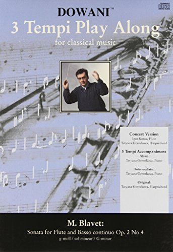 9783905479799: Blavet - Sonata for Flute and Basso Continuo Op. 2, No. 4 in G-Minor (3 Tempi Play Along)
