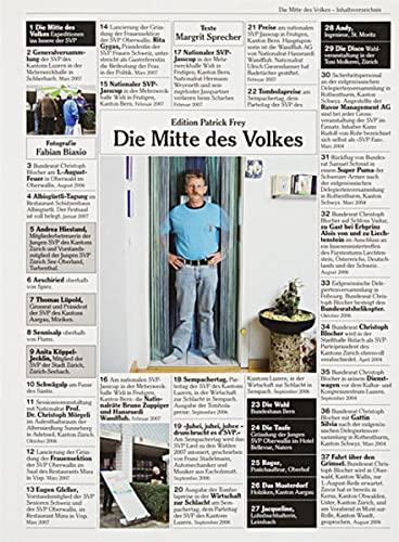 9783905509656: Die Mitte des Volkes: Expeditionen ins Innere der SVP by Sprecher, Margrit; B...