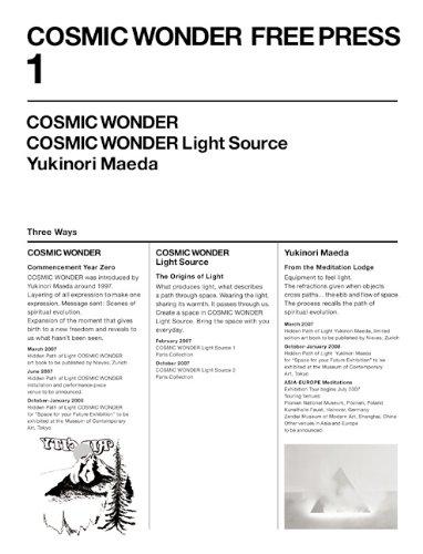 9783905714166: Yukinori Maeda - Cosmic Wonder Free Press N  01