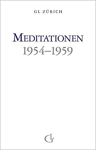 9783905749700: Meditationen 1954-1959 (Livre en allemand)