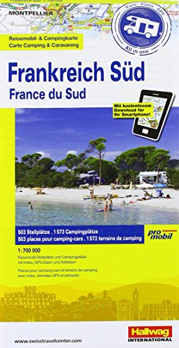 9783905755732: France South Camping Map: HAL.CC.030
