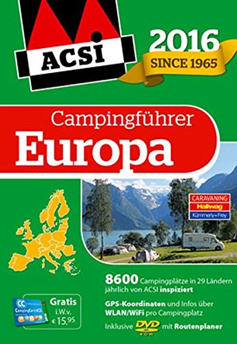 9783905755770: ACSI Internationaler Campingf�hrer Europa 2016 mit DVD